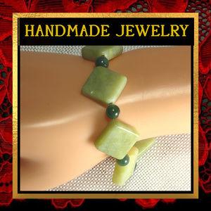 Green Serpentine & Aventurine Bracelet  #398
